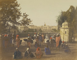 Tank Square and water carriers, Calcutta